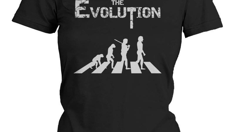 Funny Graphic Statement Womens Black T-Shirt - The Evoluation