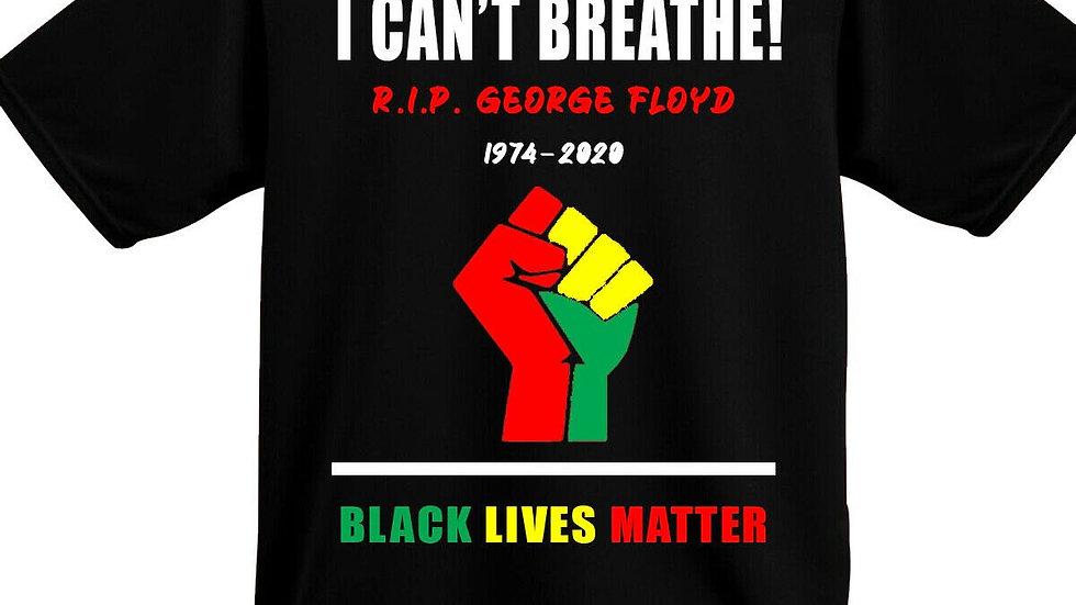 I Cant Breathe RIP George Floyd Tribute Protest Black Lives Matter Shirt