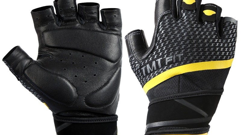 TMT Sheep Leather Fitness Gym Gloves Crossfit Weight Lifting