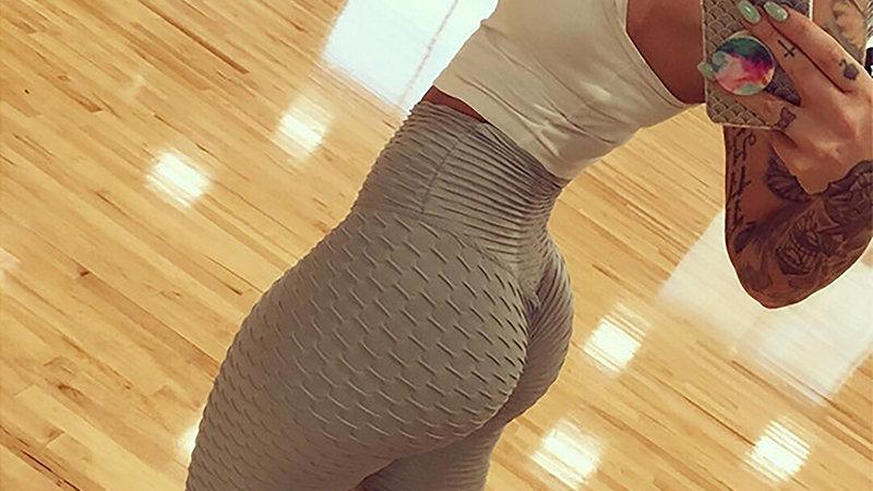 NORMOV Women Push Up Leggings Sexy High Waist Spandex Workout Legging