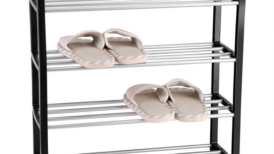 Shoe Rack Aluminum Metal Standing Shoe Rack