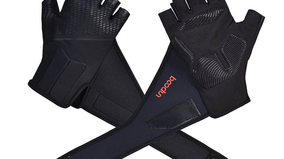 Professional Gym Gloves With Lengthen Wrist Belt Protection