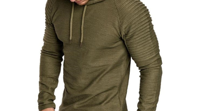 Fashion Hoodies Men Solid Color Hooded Sweatshirt Tracksuit Sweatshirt Jacket