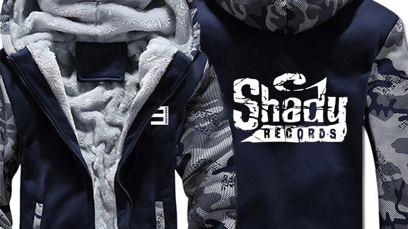 Shady Records Hoodies Winter Camouflage Sleeve Jacket