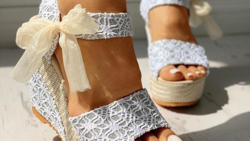 Women Fashion Summer Platform Wedge Sandals Ankle Strap