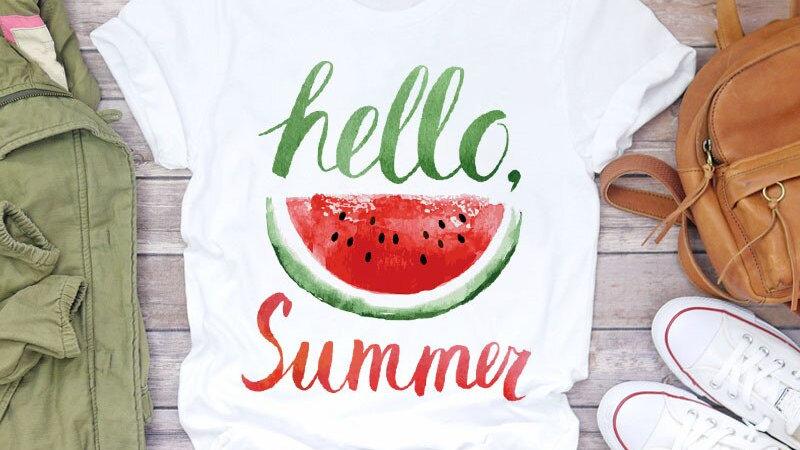 Pineapple Watercolor Fruit Print Women T-Shirt