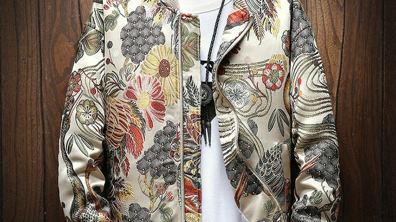 Japanese Embroidered Jacket Men
