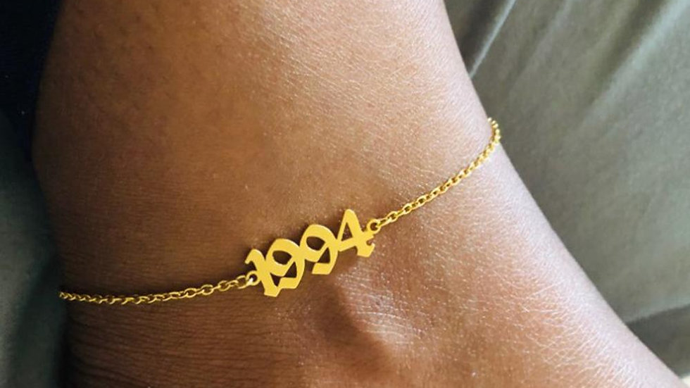 Women's Fashion 1989-2006 Birth Year Ankle Leg Bracelet