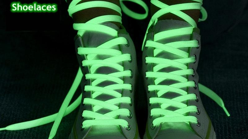 1 Pair Luminous Shoelaces Flat Sneakers Canvas Shoe Laces
