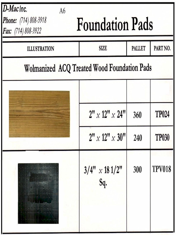 Foundation Pads