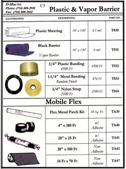 Plastic & Vapor Barrier