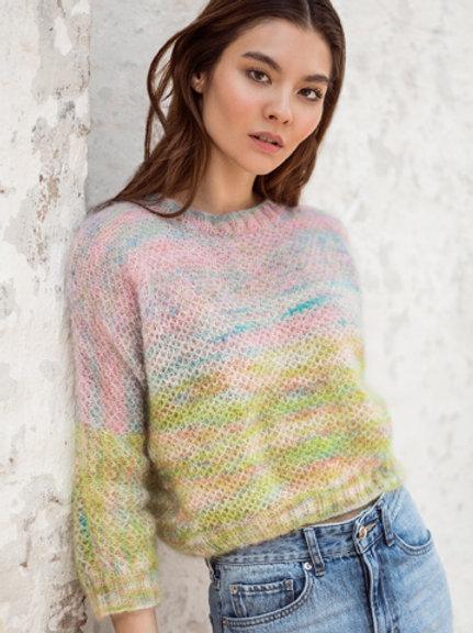 Pullover aus Silkhair handdyed