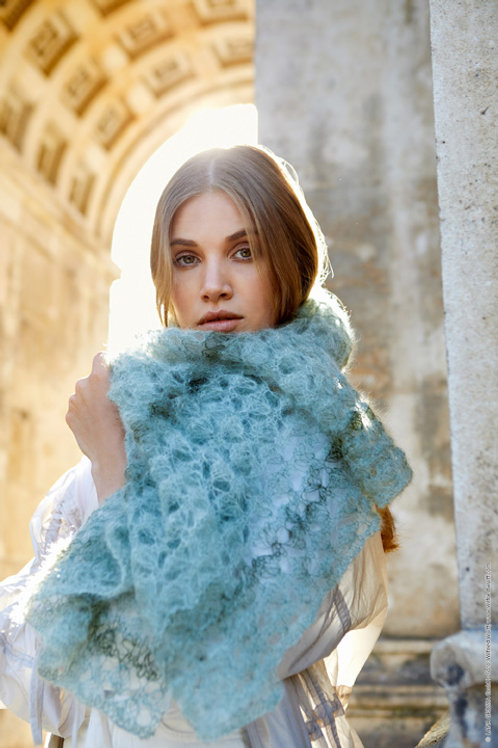 Gehäkeltes Tuch aus Silkhair Haze