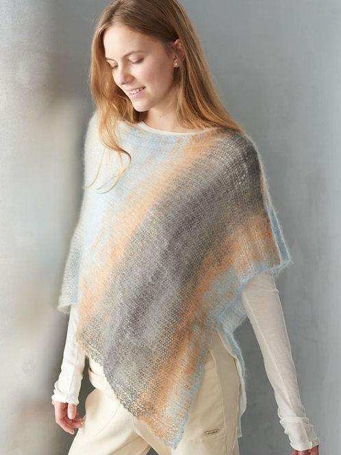 Poncho aus Silkhair - Print