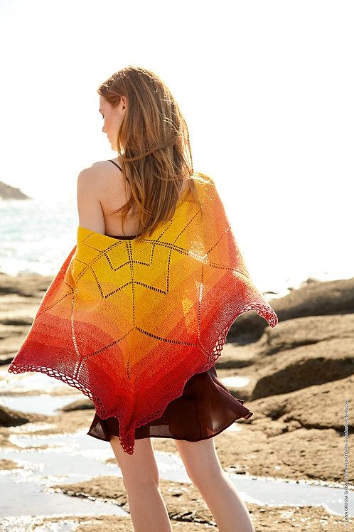 Tuch in Sternform aus Twisted Summer Shades
