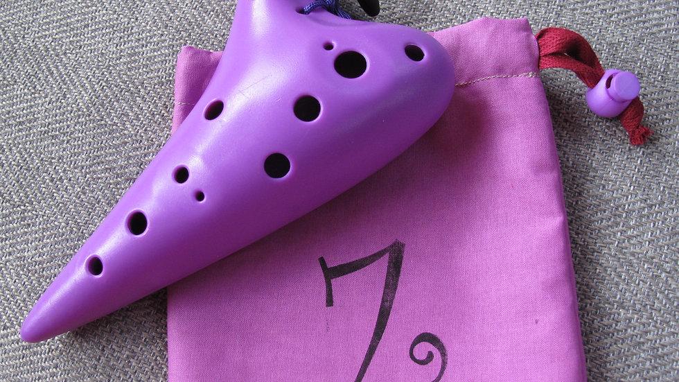 Purple 12-hole Ocarina