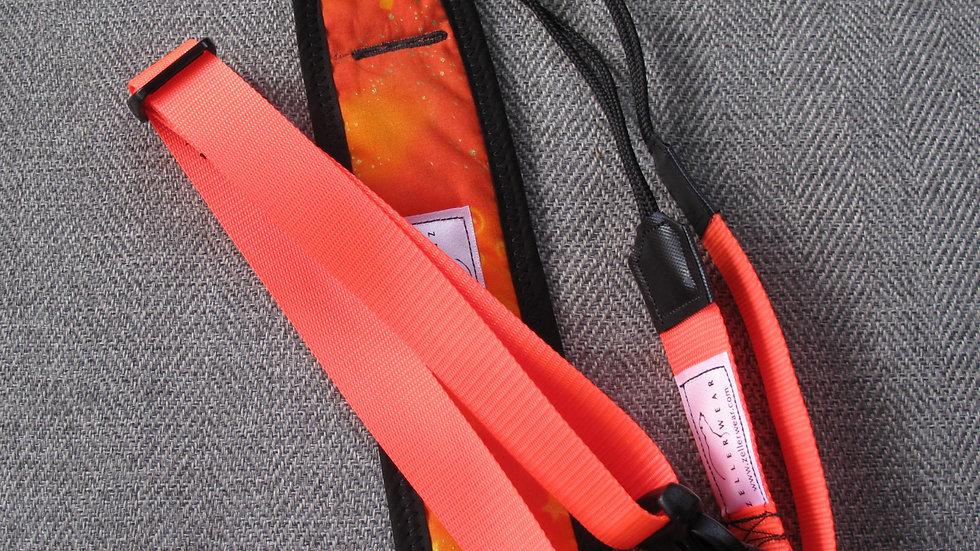 Orange Uke Strapz with Comfort Cushion