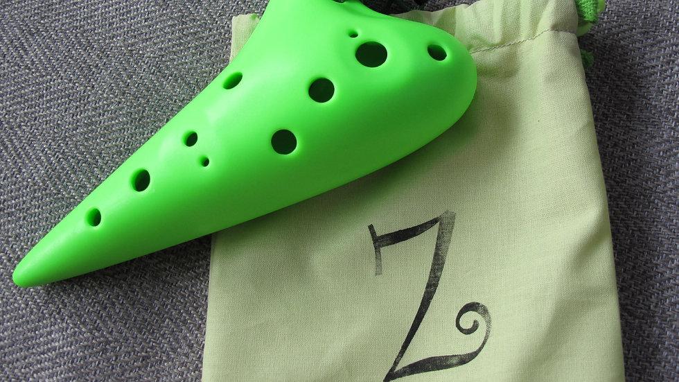 Green 12-hole Ocarina