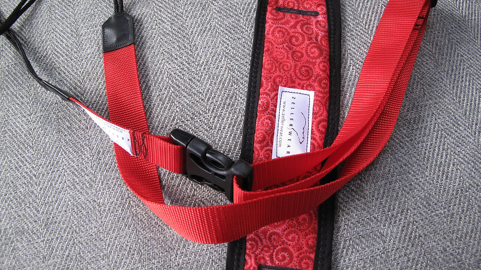 Red Uke Strapz with Comfort Cushion