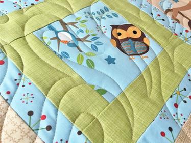 baby animal Riley blake fabric Fantasy Flame pantograph design