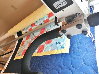 Quilt on APQS longarm machine