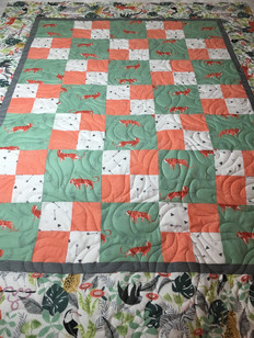Baby quilt with animals
