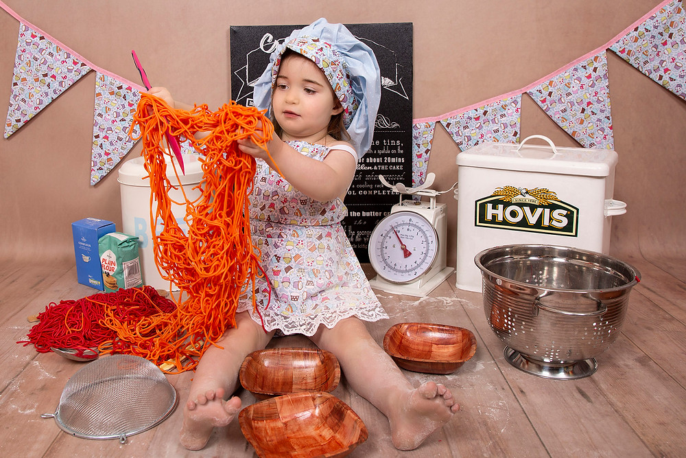 Messy Play with Dyed Spaghetti