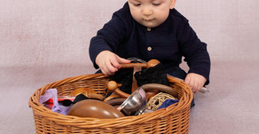 Treasure Baskets a super easy sensory play resource to make at home