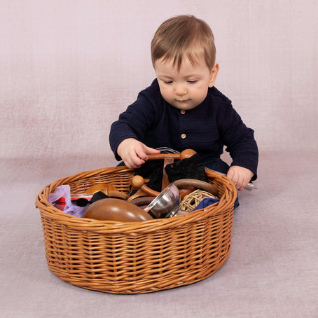 Treasure Baskets a super easy sensory play resource to make at home