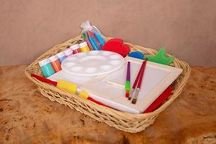 Paint Splash Basket   Little Gems Baskets   Norfolk   Norwich   Creative Basket   Sensory Play