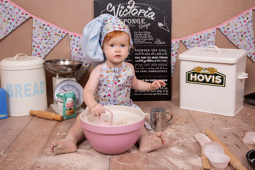 Exploring messy baking ingredients