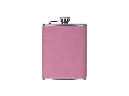Flasque à boisson rose en cuir AC-561