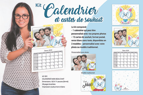 Calendrier personnalisable Chat
