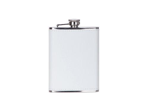 Flasque à boisson en cuir blanc AC-552
