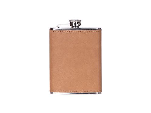 Flasque à boisson en cuir brun pâle AC-554