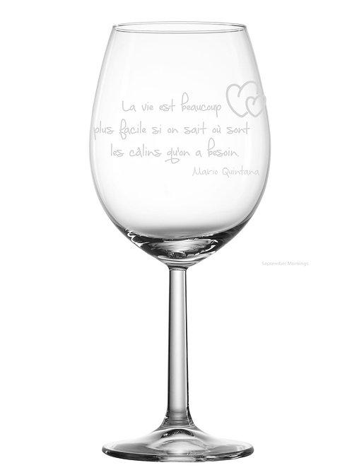Gravure sur verre la vie est beaucoup plu belle...