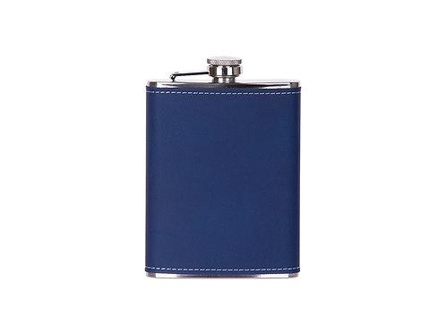 Flasque à boisson bleu en cuir AC-564
