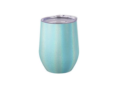 Tasse sans pied en acier inoxydable scintillant 12 oz / 360 ml
