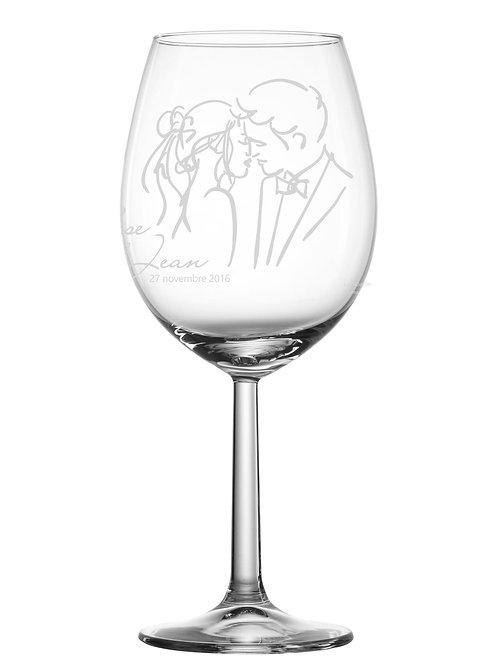 Gravure sur verre Pour le mariage