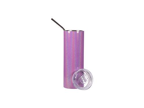 Gobelet mince en acier inoxydable scintillant mauve  20 oz AC- 594