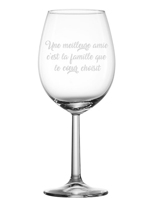Gravure sur verre Une meilleure amie c'est la famille ...