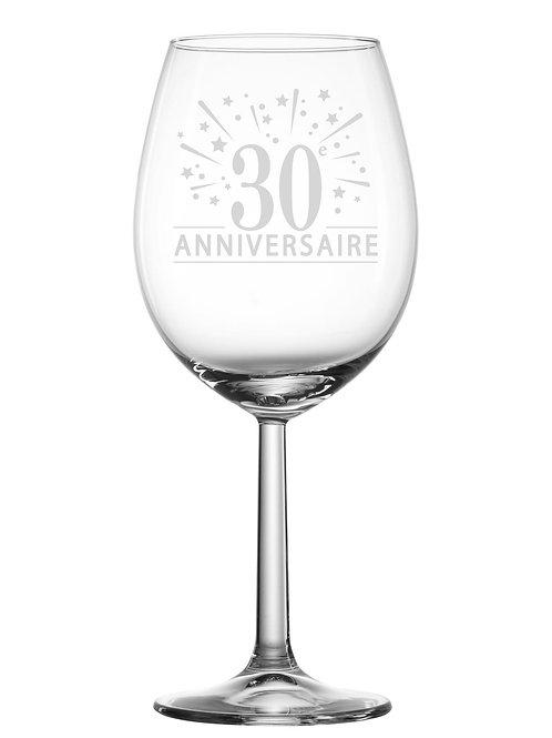 Gravure sur verre 30e anniversaire