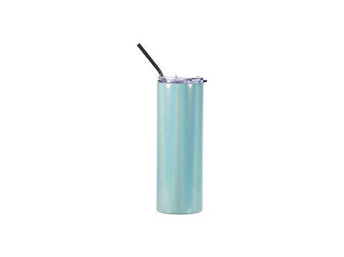 Gobelet mince en acier inoxydable scintillant 20 oz / 600 ml avec paille