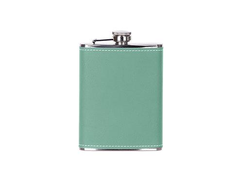 Flasque à boisson en cuir vert AC-571