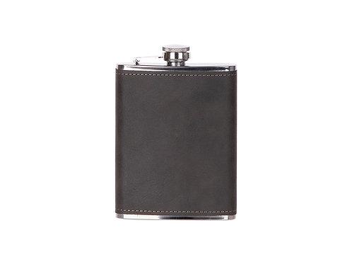 Flasque à boisson cuir gris en cuir AC-566