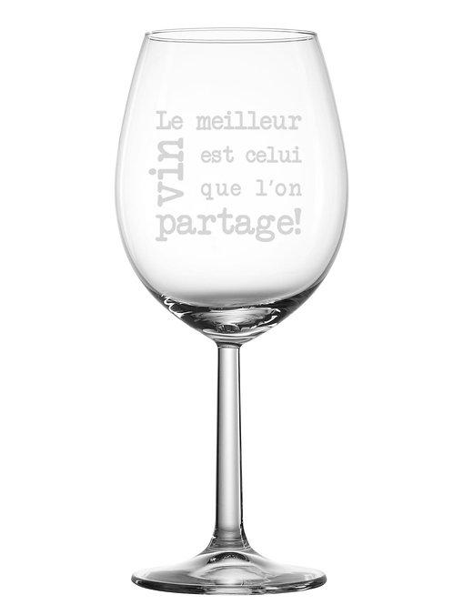 Gravure sur verre Le meilleur est celui que l'on partage