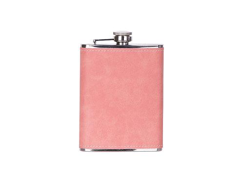 Flasque à boisson en cuir rose léger AC-556
