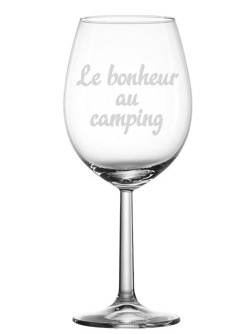 Gravure sur verre Le bonheur au camping