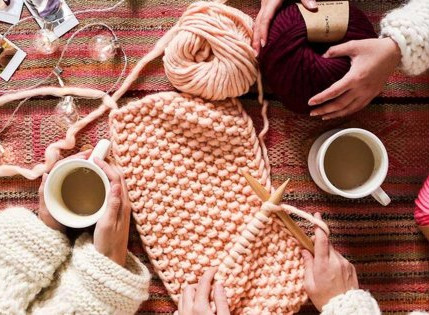 Cours de tricot avec Sylvie Lavallé