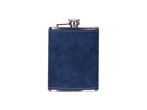Flasque à boisson bleu et noir en cuir  AC-565